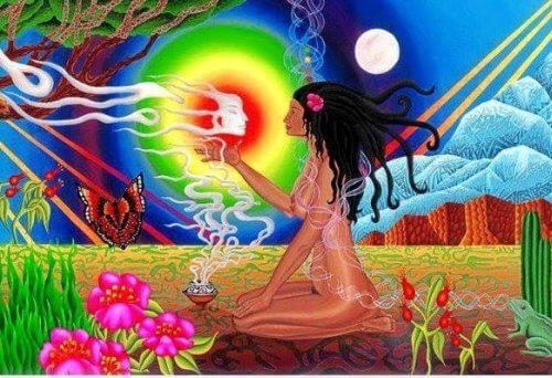 Meditierende-Frau