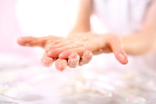 Natron für die Hände