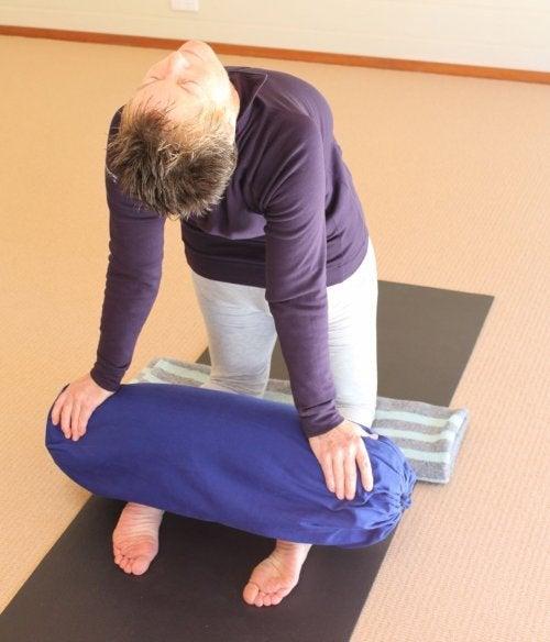 yoga übung gegen stress