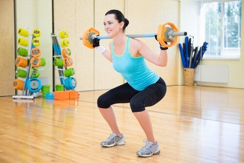 Kniebeugen-Gewicht