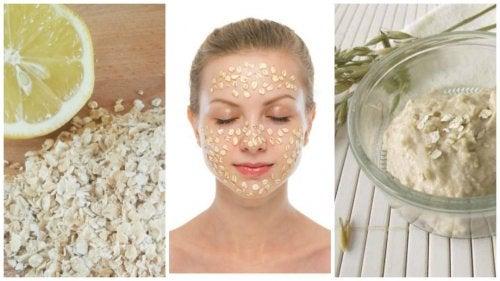 Maske mit Hafer und Zitrone gegen Hautflecken
