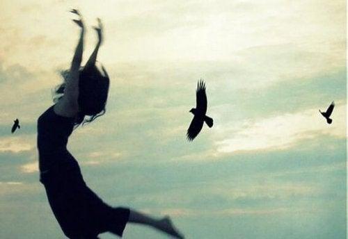 Frau-Vögel