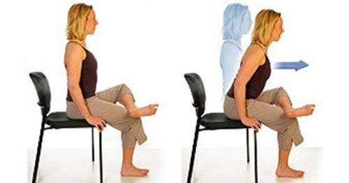 Übungen mit Stuhl gegen Ischiasschmerzen