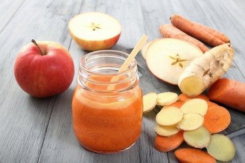 Hausmittel mit Apfel und Ingwer gegen Arteriosklerose