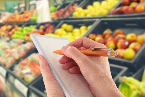 Einkaufsliste für Sirtfood Diät