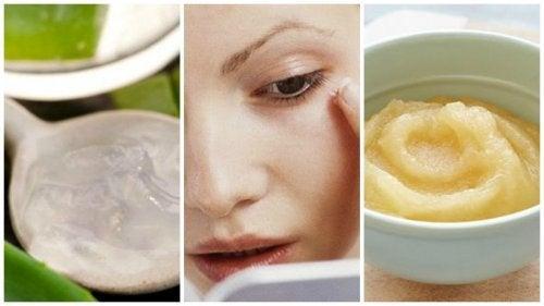 Gesichtsmaske aus Apfel, Trauben und Aloe gegen Falten
