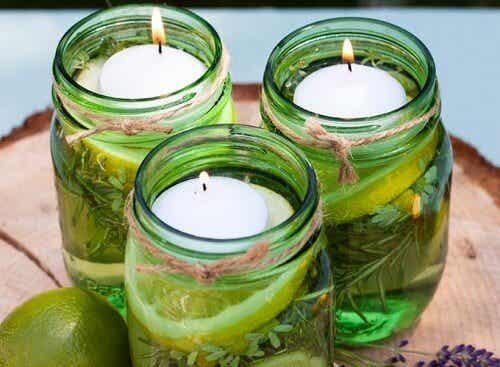 Aromatische Kerzen gegen Insekten selber machen