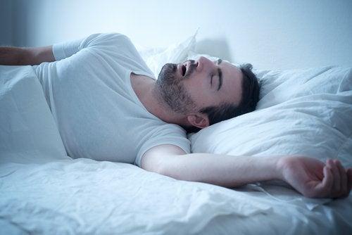 Schlafender Mann Schlafmuster
