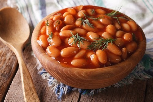 Bohnen mit Kolenhydraten