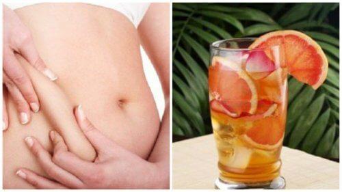 Getränk mit Grüntee, Grapefruit und Minze, das hilft, den Stoffwechsel zu aktivieren