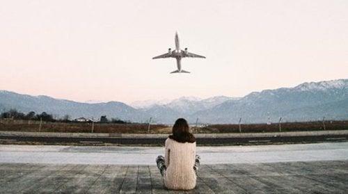 Mädchen-Flugzeug