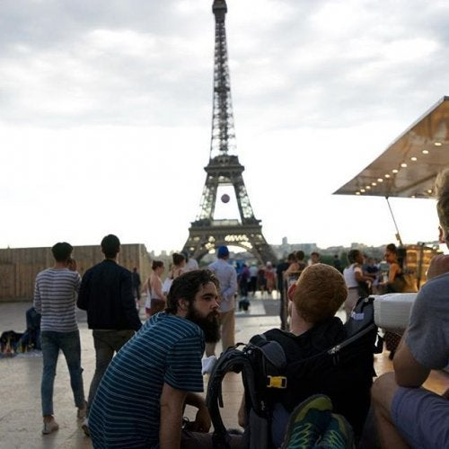 Menschen in Paris haben keine Angst