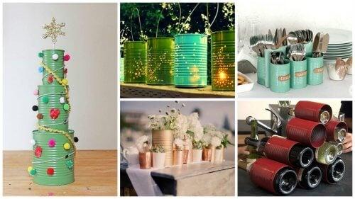 19 kreative Ideen für das Recycling von Dosen
