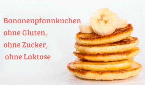 Bananenpfannkuchen ohne Gluten, ohne Zucker, ohne Laktose