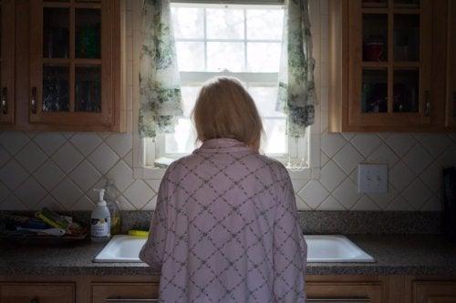 Frau hat bipolare Störung