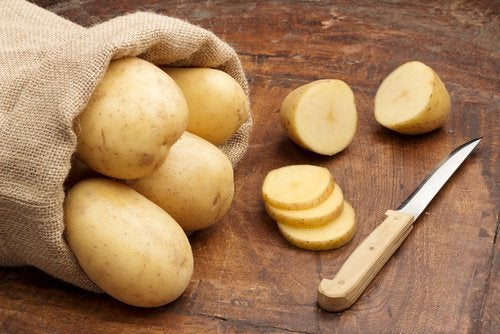 Rohe Kartoffeln Narben