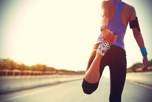 Frau am Laufen