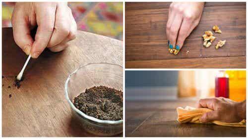 8 Tricks, um Kratzer auf Holzmöbeln zu reparieren