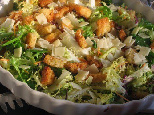 Ceasar Salad in der Diät