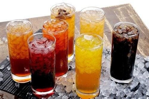 Kohlenhydraten in gezuckerten Getränken