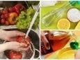 Obst und Gemüse desinfizieren