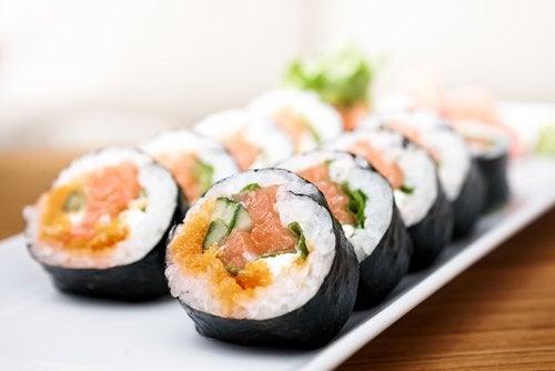 Sushi in der Diät