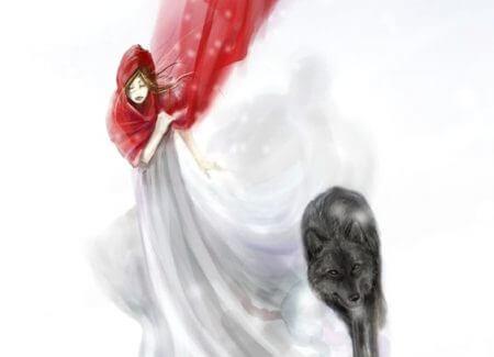 Frau mit Wolf hat Ängste