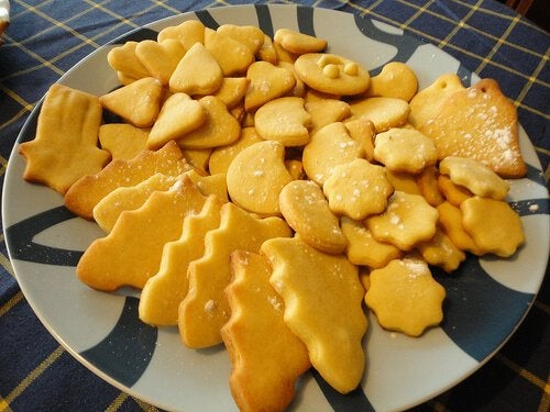 salzige Kekse enthalten auch Zucker