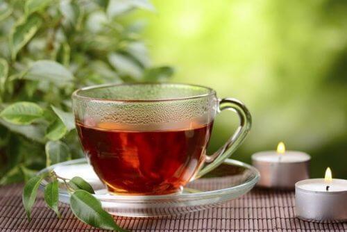 Aufgüsse mit rotem Tee