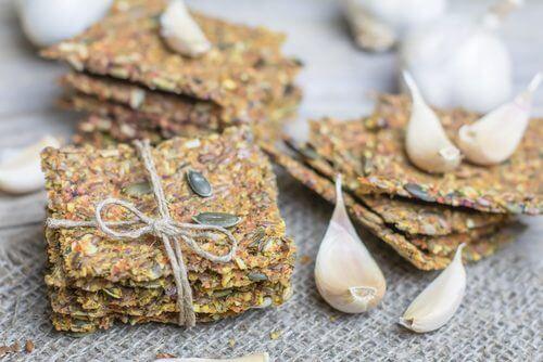 Rezept für Cracker: ohne Gluten und ohne Laktose