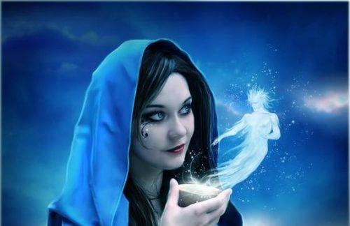 Frau mit Träumen