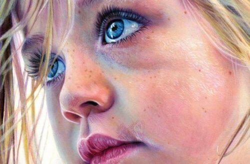Mädchen mit grossen Augen