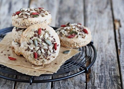 nährstoffreiche Kekse mit Samen