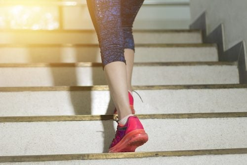 Treppe, um Kalorien zu verbrennen