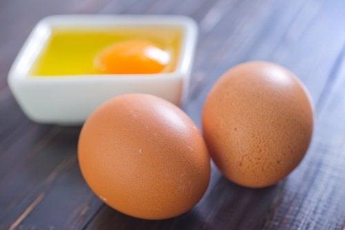 Haut aufhellen mit Eiern