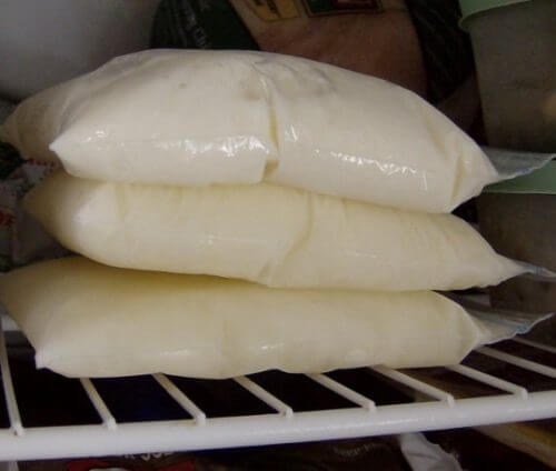 Milch im Kühlschrank