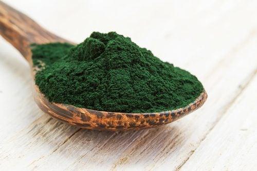 grünes Pulver für grüne Getränke