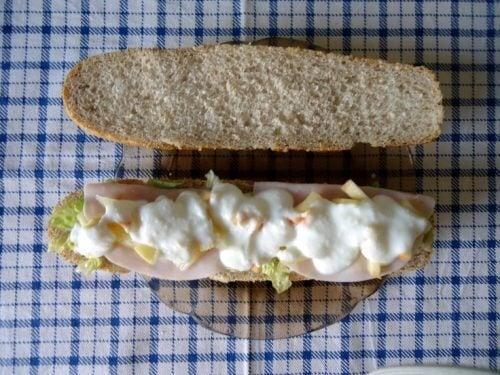 belegtes Brot für Frühstück zum Abnehmen