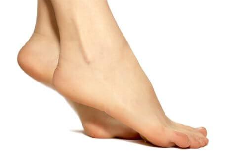 Füße einer Frau