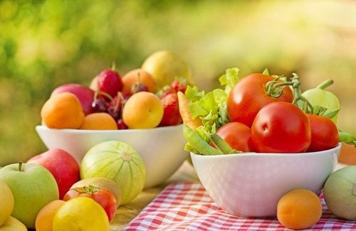 Obst und Gemüse zum Abnehmen