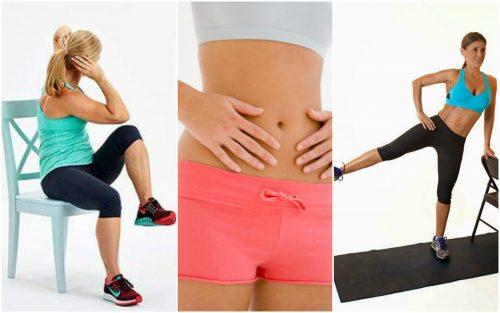 5 Übungen mit Stuhl für einen flachen Bauch