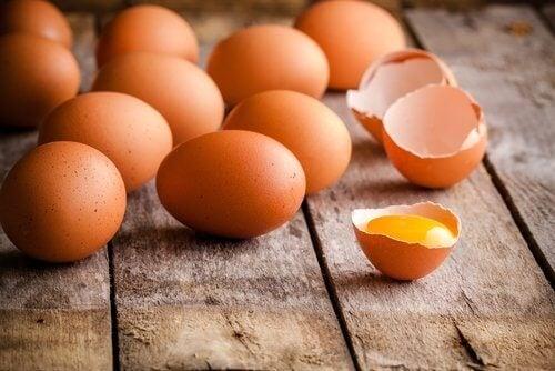 Eier mit viel Eiweiß