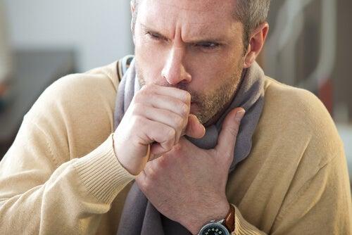 Mann hat Lungenpest