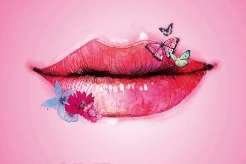 Ein schöner Mund verspricht viel, doch es zählen Taten statt Worte.