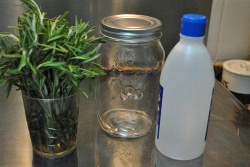 Alkohol mit Rosmarin wird als Salbe verwendet