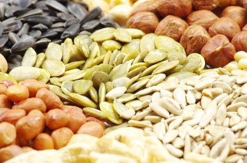 Trockennfrüchte und Samen