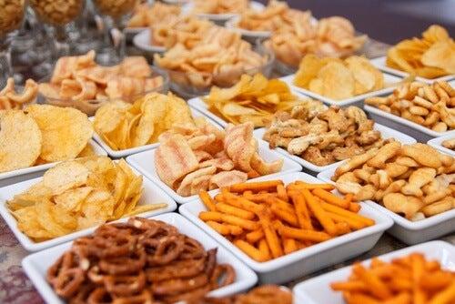 versteckte Fette in salzigen Snacks