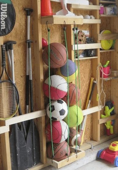 Ordnung zu Hause: Bälle aufbewahren