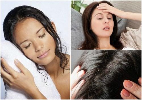 Mit nassen Haaren ins Bett? 8 mögliche Folgen