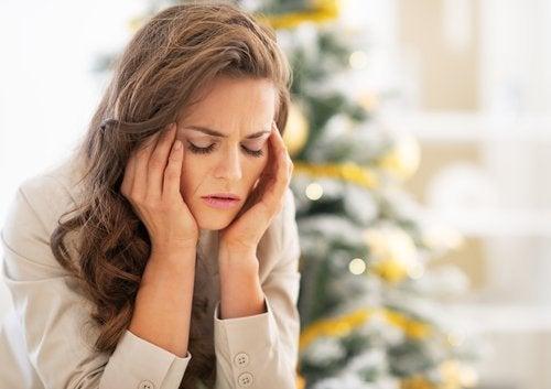 Frau mit Stress